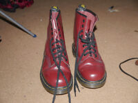 DR Martens Boots, Size 6, Cherry Red, Hardly Worn