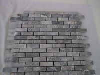 8 sheets of marble mosaic tiles/ 340mmx300mm each tile, 10 mm thickness.