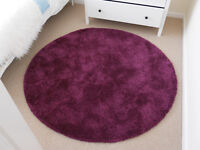Ikea Adum round purple rug. Hardly used.