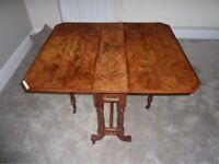 Genuine Burr Walnut Sutherland Table