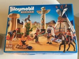 Playmobil 5247 Native American Camp BNIB & Playmobil 4398 My Take Along Western City