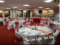 Chair Cover Hire Nottingham, Derby, Sheffield, 5ft Light Up LOVE Letters Hire, Wedding Venue Styling