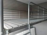 Grey high sleeper bed frame
