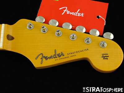 "USA Fender ERIC JOHNSON Stratocaster Strat NECK & TUNERS 12"" Radius Maple Nitro-"