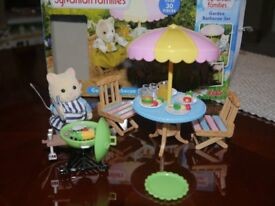 Sylvanian families garden BBQ set with figure
