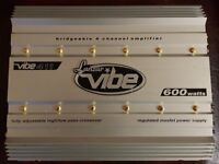 CAR AMPLIFIER LANZAR VIBE 600 WATT 4 CHANNEL STEREO AMP TO RUN THE SUBWOOFER OR DOOR SPEAKERS AMP