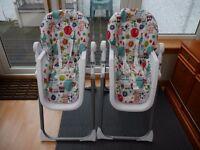 Mamas & Papas Pesto High Chair x 2