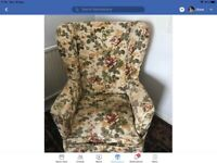 2 - Wing Back Chairs