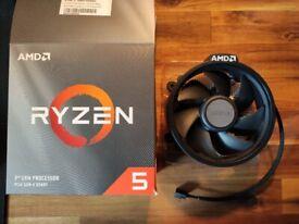 AMD Ryzen Wraith Stealth Cooler/Heat Sink Cooler Fan For Socket AM4, Fan only