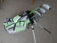 """US Kids Ultra Light Set - Junior Golf Clubs Green 57""""-60"""" (D,FD,H,5,6,8,9, P, S)"""