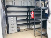 Mercedes Sprinter mwb shelfing rack