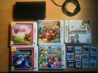Nintendo NEW 3DS XL handheld console with 18 quality games! In excellent condition.