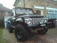 Landrover Defender built on Roll Cage. Extreme Vehicle!