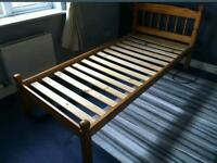 solid pine single bed frame only