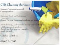 Cleaners,Equipment Maintenance and Testing Services