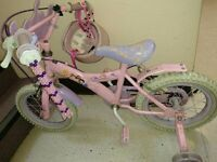Pink disney princess bike