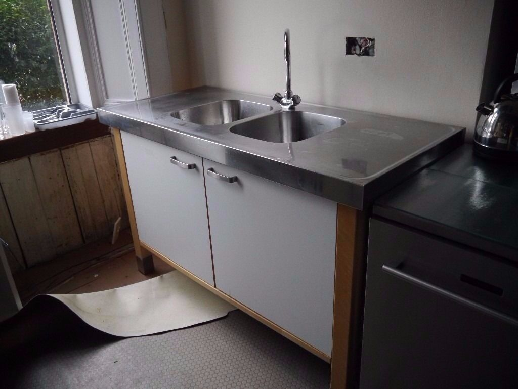 Ikea Varde Double Sink And Oven Freestanding Kitchen Units Bargain