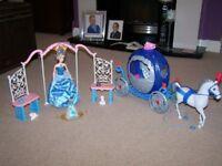 Disney Cinderella Barbie wedding bundle