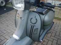 Scomadi TL 125 scooter, Warrantied till end Feb 2018, like Vespa Lambretta
