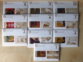 Shell series Postcards Shell poster art all ten unused sets with envelopes. 100 in all, complete set