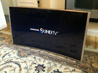 48in Samsung Curved 3D Smart SUHD 4K LED TV Freeview HD & FreeSat HD Warranty [NO STAND]