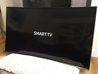 CURVED 43in Samsung 4k LED Smart HDR TV v-ctrl -wifi- 1500hz - Freeview HD & Freesat HD [no stand]