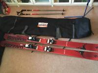 Blizzard Bonafide 180cm Skis, Marker Attack 13 bindings, Line Poles and Bag