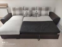 Double sofa bed with storage