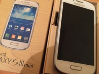 SAMSUNG GALAXY S3 MINI WHITE ANDROID SMARTPHONE UNLOCKED MOBILE PHONE