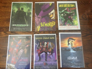 DC comic movie cover variants