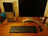 """Dell Dimension 5100 PC with Dell 22"""" Ultrasharp Monitor, Keyboard and Mouse."""