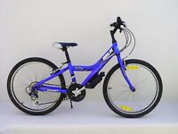 "Junior / Kids / Childs Giant MTX 225 Blue 24"" Wheel 18 Speed Aluminium Mountain Bike Age 8 - 14"