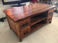 Stunning Solid Wood Coffee/TV Console Table