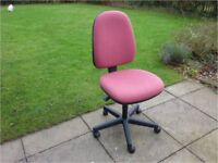 Office chair – made in Britain. Very little use - like new.