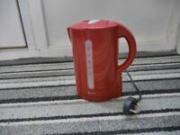 Red Electric Kettle Swan Brand