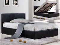 🔰🔰GRAND SALE🔰🔰 Double Or King size Leather Storage Bed Frame + Memory Foam Mattress