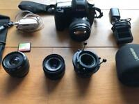 Canon 5D MARK 2 BUNDLE 85mm 1.4 35mm 50mm LENSBABY SIGMA RINGFLASH CF CARD CHARGER BAG BATTERY MKII
