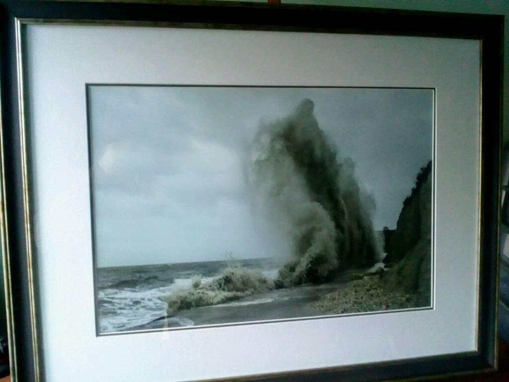 "Framed seascape picture. Original photographic print 24x16""."