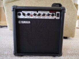 Yamaha GA 15 Practice Amp and guitar lead,
