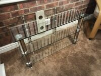 FREE Glass TV Stand 3-Tier Excellent condition