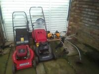 Petrol Garden tools for sale as a package, ideal to start a gardening business