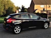Ford Focus Zetec 1.6, Only 56,000 miles, Full Service History, (2011-Reg) 5dr, Black, New Shape