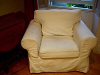 Ikea Ektrop Armchair with removable, washable covers
