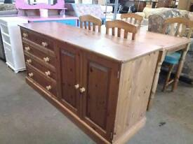 Solid farmhouse pine sideboard. Del available