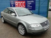 2004 (54 reg), Volkswagen Passat 2.0 Highline 4dr Saloon, 3 MONTHS AU WARRANTY INCLUDED, £1,495 ono