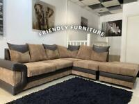 New corner sofa with large footstool