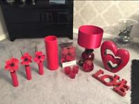 Red Living Room Accessories