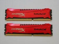 HyperX Savage Red 16GB (2x8GB) DDR3 PC3-19200C11 2400MHz Dual Channel Kit