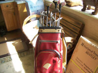 SET OF GOLF CLUBS,9 irons 2 putters & 3 drivers