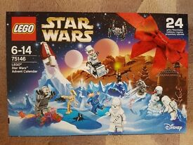 Star Wars Lego Advent Calendar 2016 version - set number 75146. Only £25. BRAND NEW. PERFECT COND.